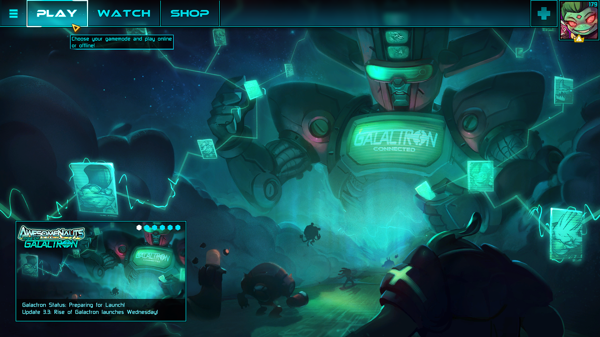 awesomenauts_main_menu